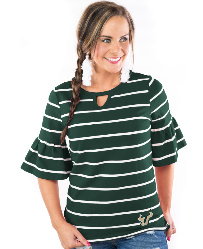 usf women's 3/4 sleeve top