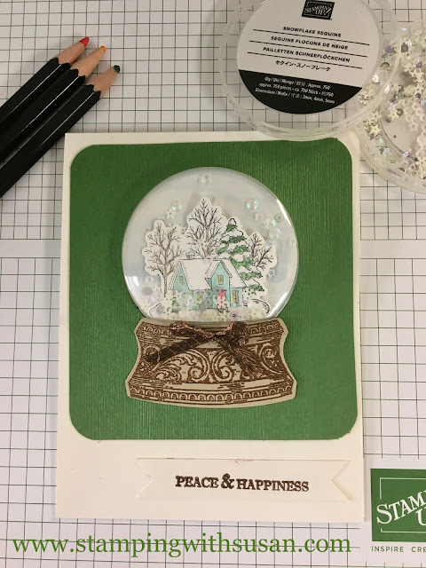 Stampin' Up!, Still Scenes, Shaker Card, Snowflake Sequins, www.stampingwithsusan.com, Snow Globe Shaker Domes,