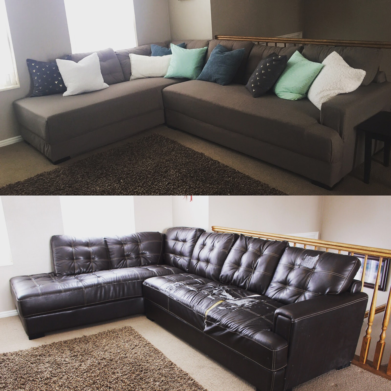 Diy How To Reupholster A Sofa Aloworld Microfiber Sleeper Sectional Remodelaholic 28 Ways