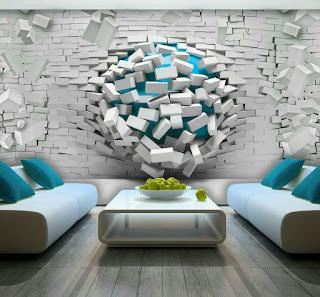 Gambar dinding jebol 3Dimensi