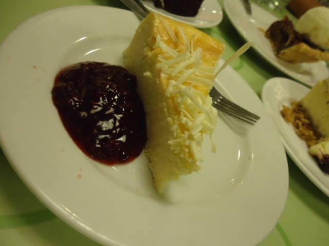 White cheesecake at Calea