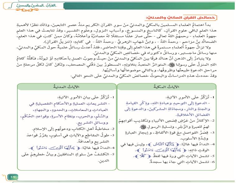 حل أسئلة التقويم التربية الاسلامية للصف التاسع