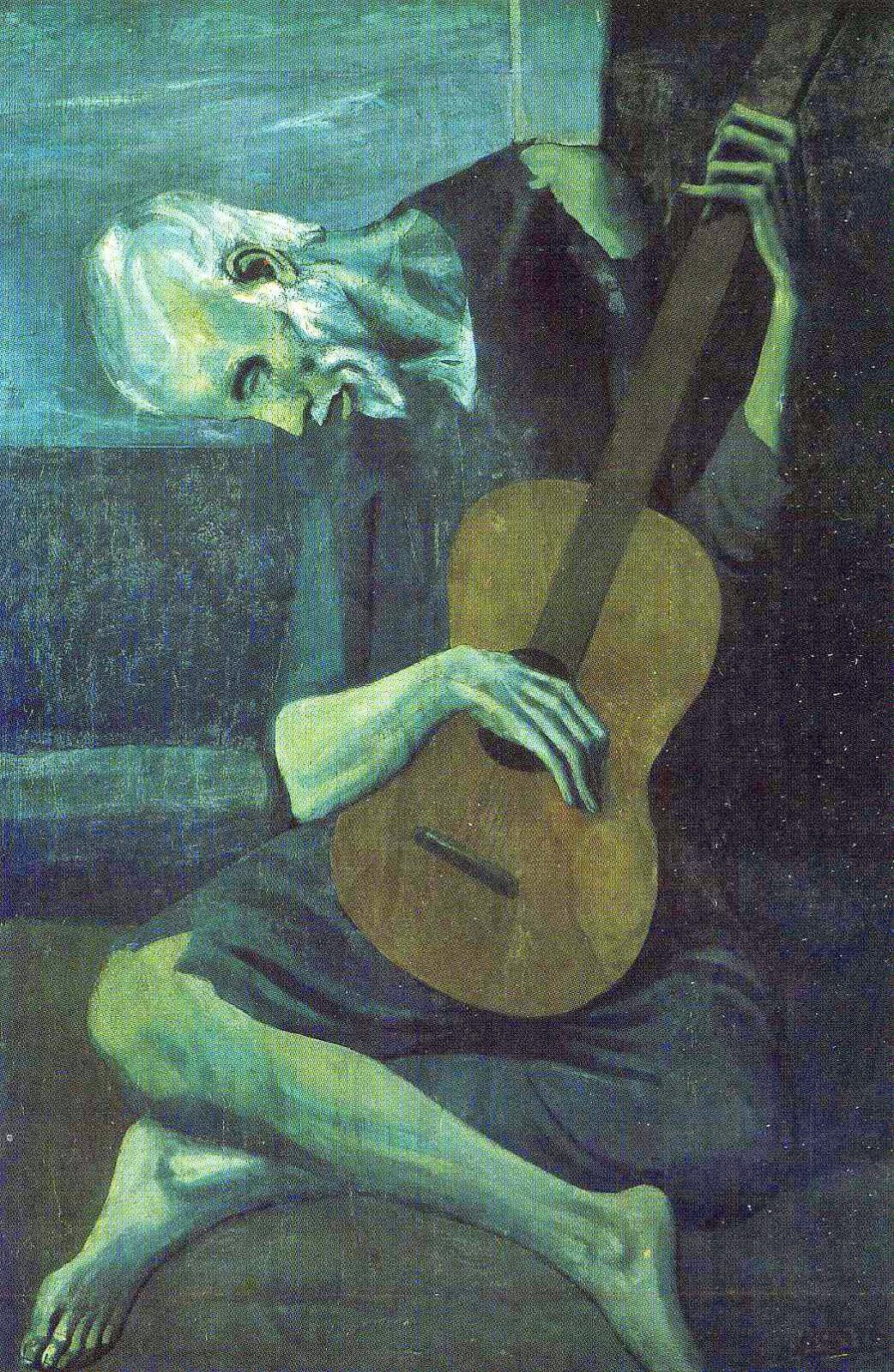 Guitarrista Cego Idoso - Picasso e suas pinturas ~ O maior expoente da Arte Moderna