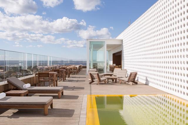 Rooftop do B Hotel por Joana França
