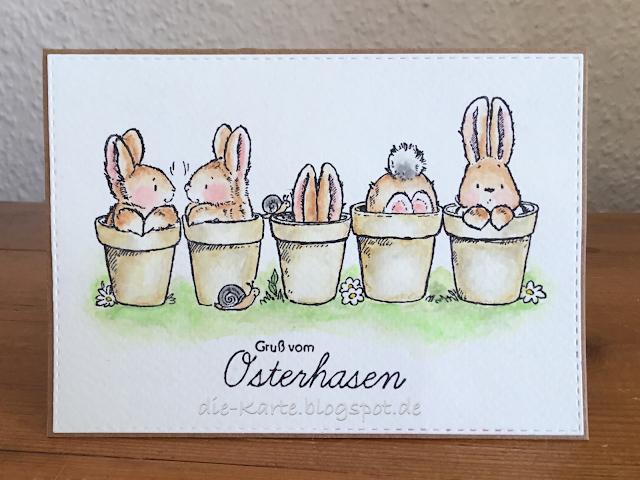 """""""Bunny Friends"""" Penny Black, """"Gruß vom Osterhasen"""" aus """"Ostergrüße"""" von Klartext Stempel"""