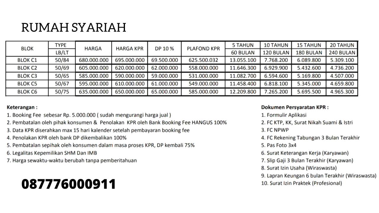 Harga Rumah Syariah Mewah Terbaik di Pamulang Tangerang Selatan
