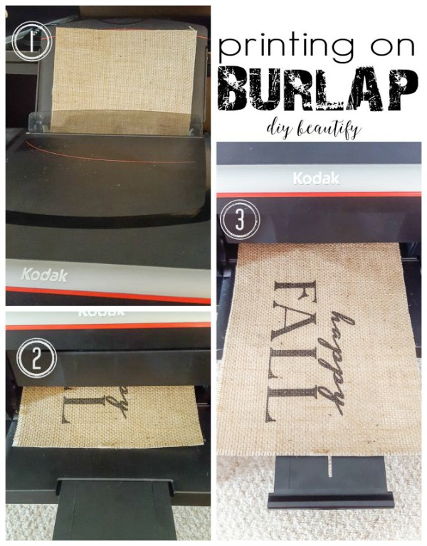 printing on burlap at home