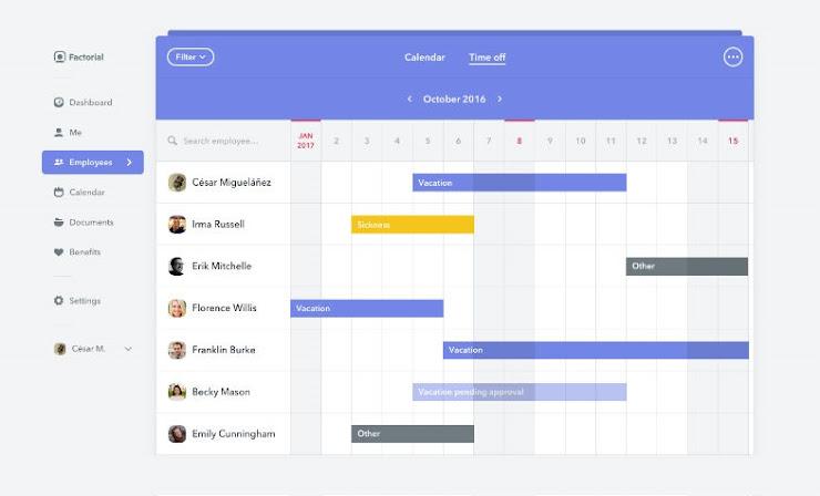 Factorial, software gratuito para la gestión del personal en una empresa