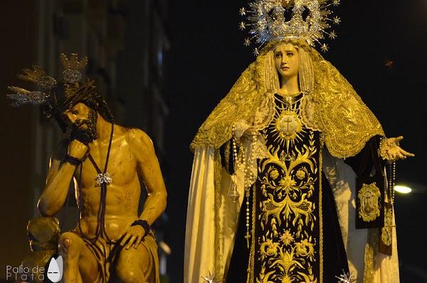 Traslados de los Titulares de La Hermandad de Humildad y Paciencia de Málaga por obra esta noche