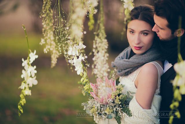 Kwiatowe tło do zimowej sesji fotograficznej