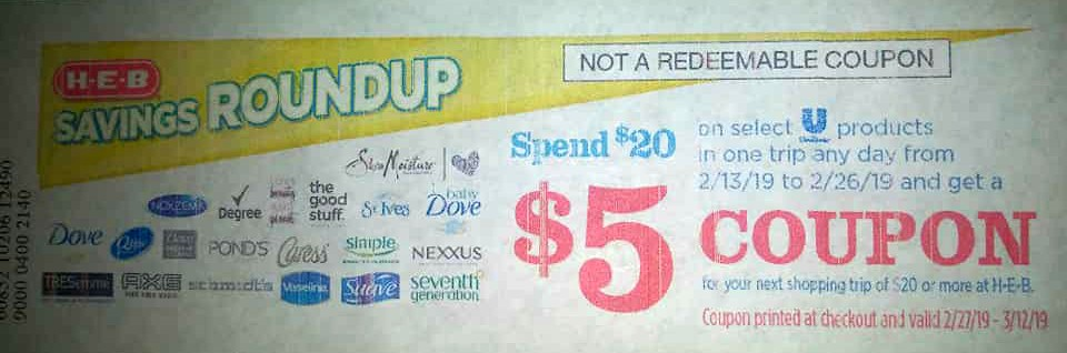 photo relating to Unilever Printable Coupons titled WOOT Unilever Catalina Promo Returns!
