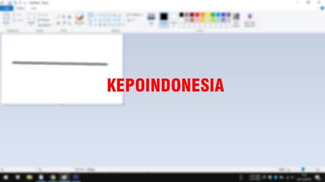 Cara Membuat Garis Lurus di Aplikasi Paint Windows