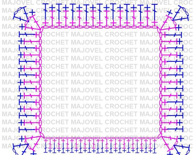 Patron abrigo - 10 - Crochet Imagenes Abrigo rosa a crocher y ganchillo muy fácil y sencillo , lindo por Majovel Crochet