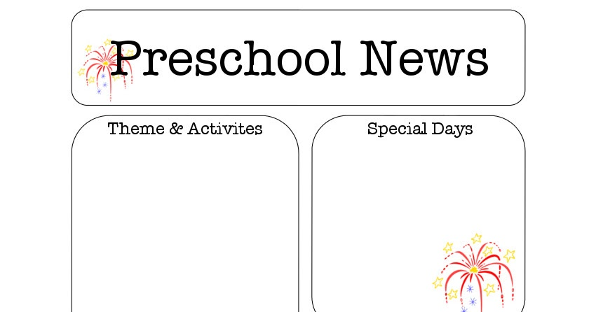 julynewsletter January Pre Newsletter Template Free on christmas family, microsoft word, preschool classroom,