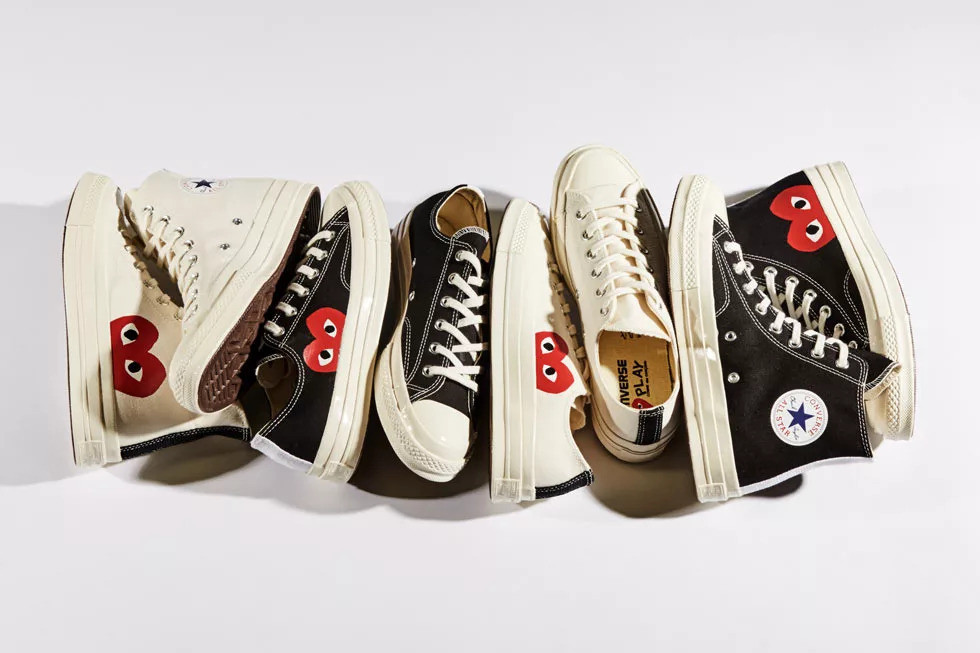 f2540bae3d51 The most-popular COMME des GARÇONS Play x Converse Chuck Taylor collection  is now available to purchase directly from Converse s website. The Chuck 70  ...