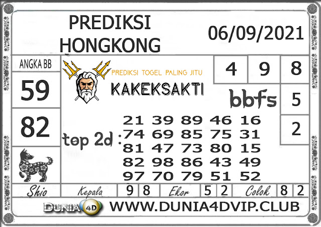 Prediksi Togel HONGKONG DUNIA4D 06 SEPTEMBER 2021