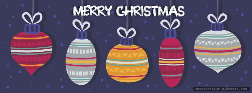 Free Merry Christmas Facebook Cover