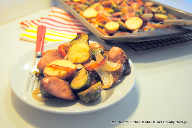 Sheet Pan Sausage and Vegetable Hash at Miz Helen's Country Cottage