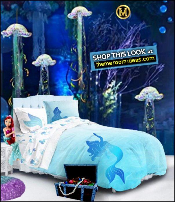 little mermaid bedding ariel bedding ariel dolls underwater mural underwater wall decorations