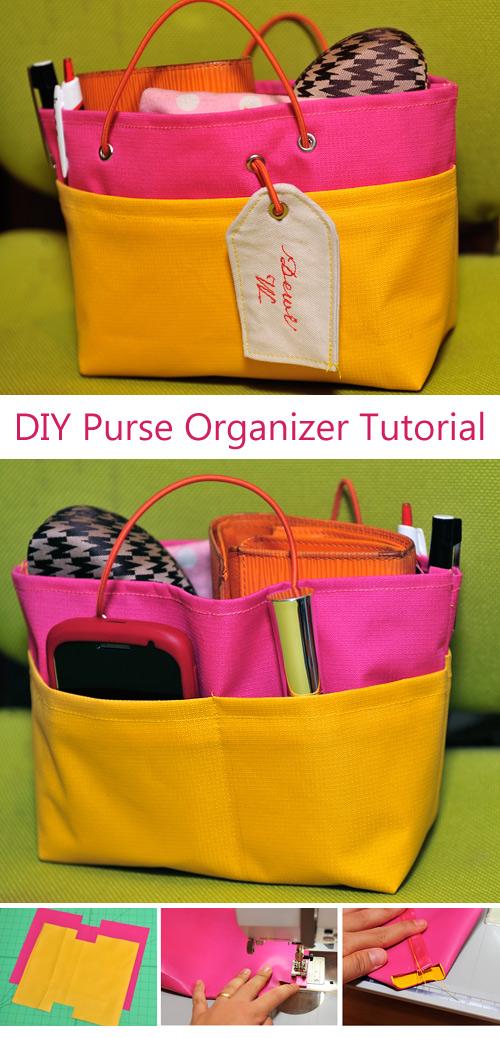 DIY Purse Organizer Tutorial & Pattern