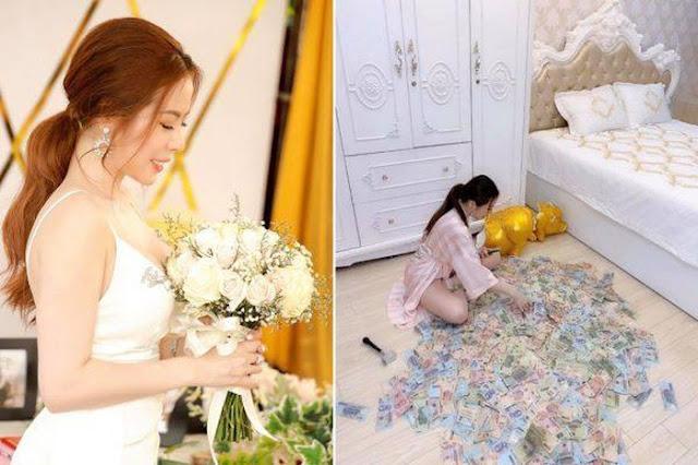 Gia thế kiều nữ cho em gái 49 cây vàng và 2,5 tỉ làm của hồi môn, đeo đến toát mồ hôi