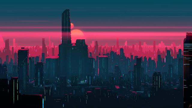 1080p retro futurism wallpaper