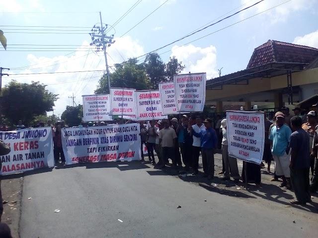 Warga Desa Juwono Tolak Perusahaan AMDK Beroperasi
