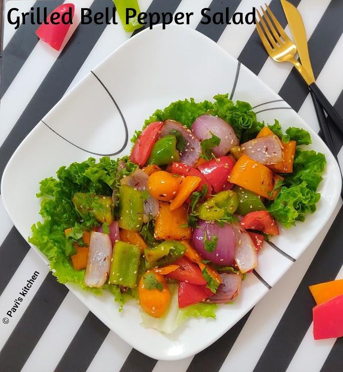 capsicum Indian recipe | capsicum salad recipe | bell pepper salad