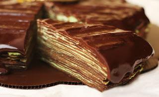 Kue Cake Zebra Bintik Cokelat