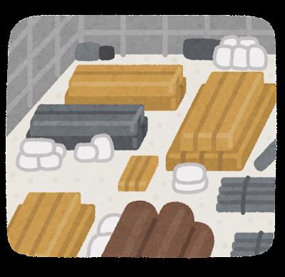 資材置き場のイラスト