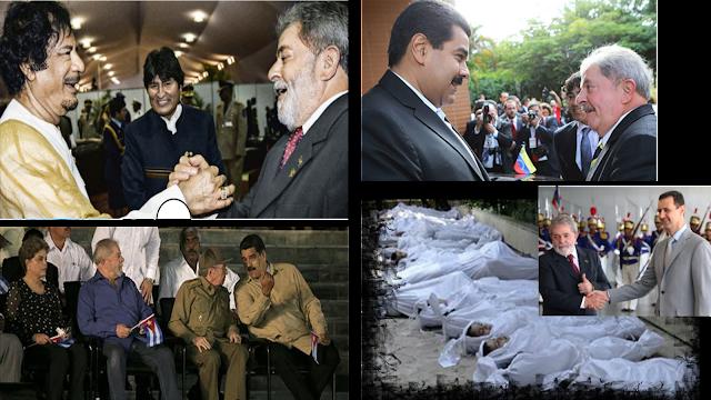 O BRASIL ESCAPOU FEDENDO: Associação do PT com ditadores e assassinos da Líbia, Cuba, Venezuela e Síria reservava dias negros para o Brasil