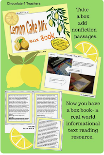 https://www.teacherspayteachers.com/Product/Informational-Text-Literacy-Center-Lemon-Cake-Box-Book-1887946