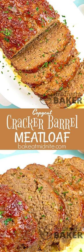 At Cracker Barrel, meatloaf is one of the most popular items on the menu. Try this easy copycat recipe and see why!