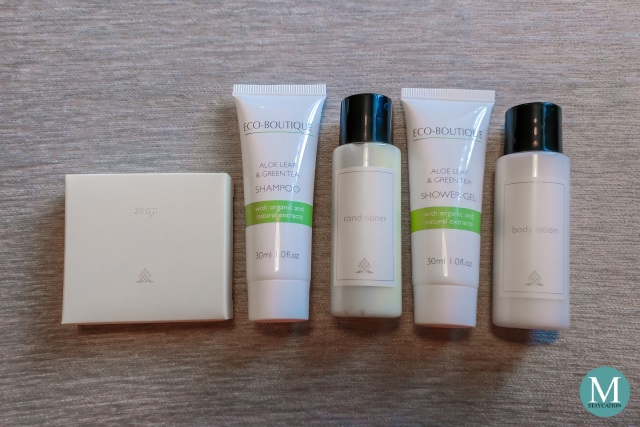 Deluxe Room toiletries at New World Makati Hotel