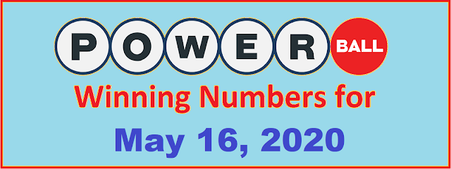 PowerBall Winning Numbers for Saturday, May 16, 2020