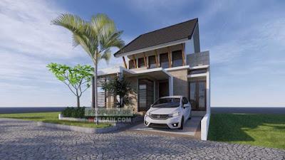 Tampak Depan Desain Rumah Minimalis 8x15