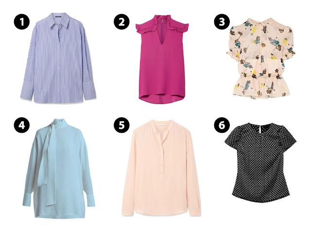 блузки с различным кроем
