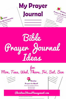 Bible prayer journal ideas and prompts