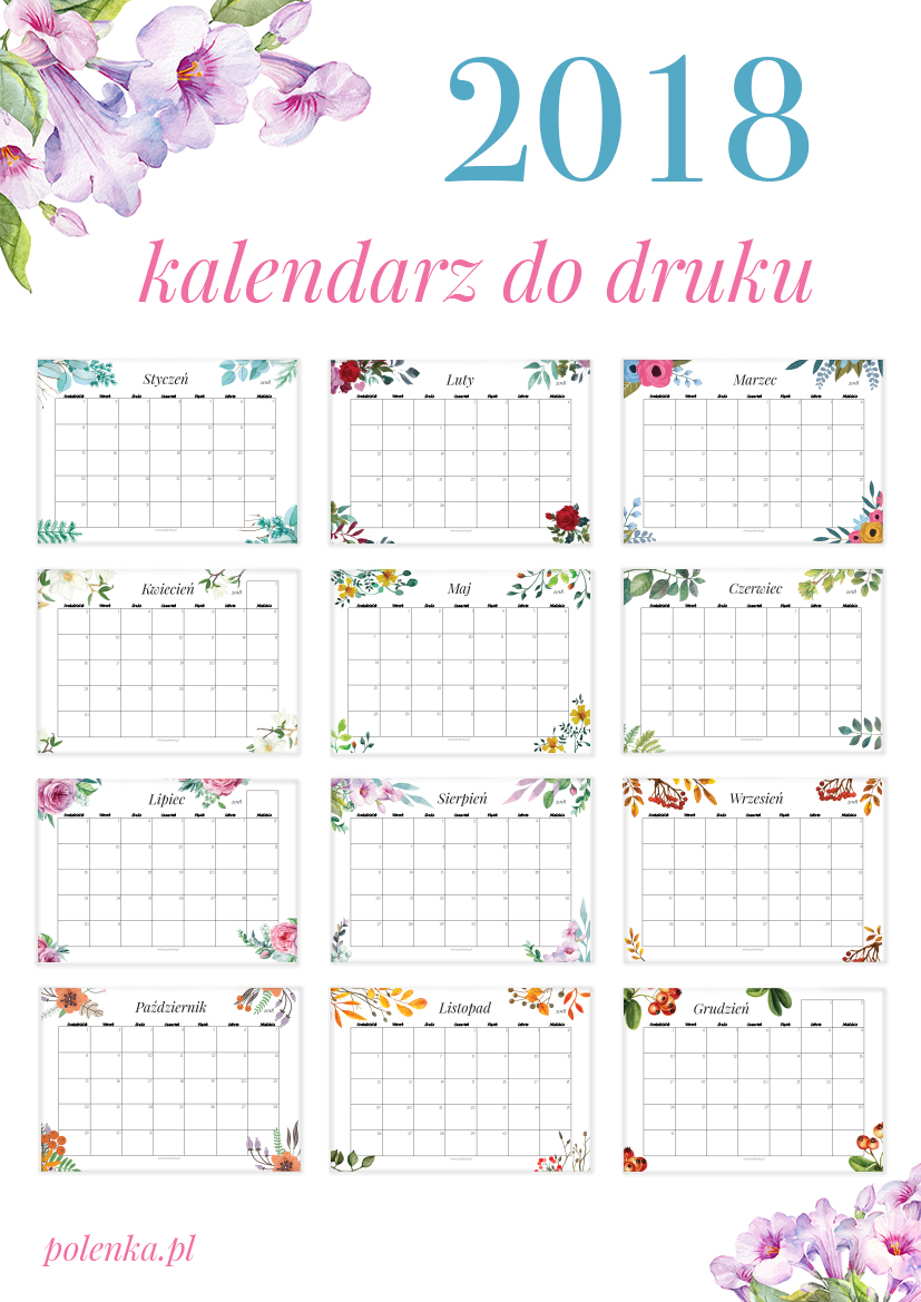 kalendarz 2018 - planer do pobrania