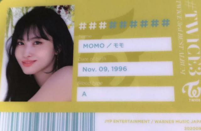 TWICE 3 Momo ID