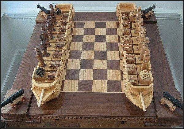Sea battle chess board