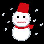 天気のマーク「吹雪」
