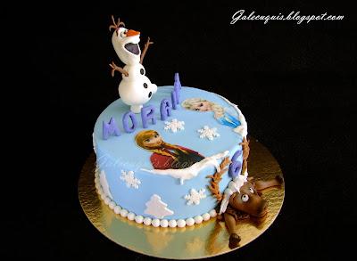 Tarta Frozen con Olaf y Sven
