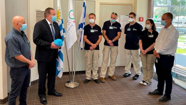 Israel envía equipo médico a Uruguay para luchar contra el coronavirus