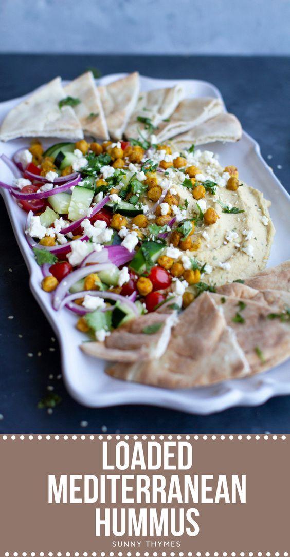 Loaded Mediterranean Hummus
