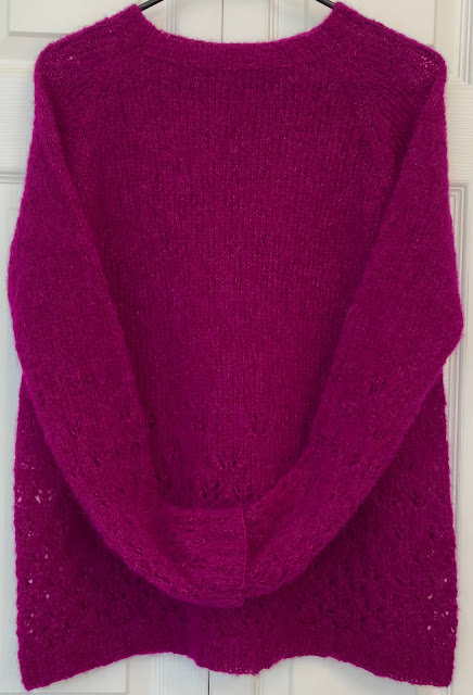 Late Nights by DROPS Design knitted with purple Brushed Alpaca Silk