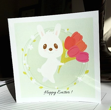 DIY: Hoppy Easter greeting card