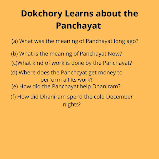 Dokchory Learns about the Panchayat class 8
