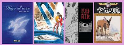 portadas del cómic manga Bajo el aire, de Osamu Tezuka