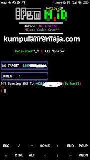 Cara Spam SMS Dengan Aplikasi Temux Semua Operator